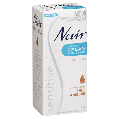 Nair Sensitive Hair Removal Cream Face & Body 75 g - Corner Pharmacy