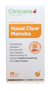 Clinicians Nasal Clear Manuka 25 ml - Corner Pharmacy