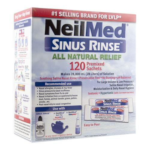 NeilMed Sinus Rinse 120 Premixed Sachets Makes 28 L Of Solution - Corner Pharmacy