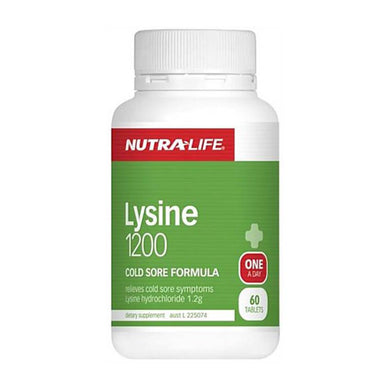 Nutra-Life Lysine 1200mg 60 Tablets - Corner Pharmacy