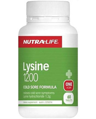 Nutra-Life Lysine 1200 Cold Sore Formula One-A-Day 60 Tablets - Corner Pharmacy