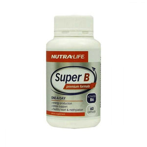 Nutra-Life Super B Premium Formula One-A-Day Activated B6 60 Capsules - Corner Pharmacy