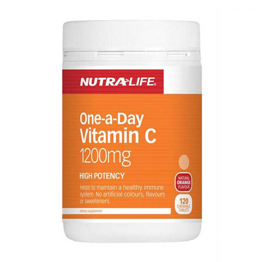 Nutralife Vitamin C 1200mg One-a-Day Chewable Tablets