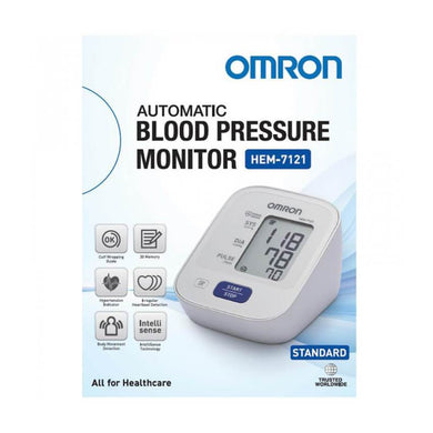 Omron Digital Auto Blood Pressure Monitor HEM-7121 - Corner Pharmacy