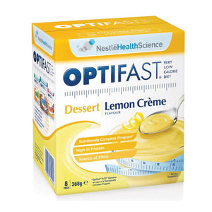 Optifast Dessert Lemon Creme 46g x 8 (Very Low Calorie Diet)