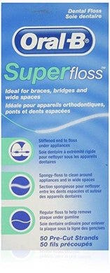 Oral- B SuperFloss Dental Floss 50 Pre- Cut Strands - Corner Pharmacy