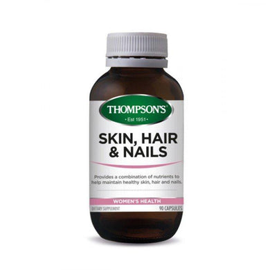 Thompson's Skin, Hair & Nails Dietary Supplement 90 Capsules - Corner Pharmacy