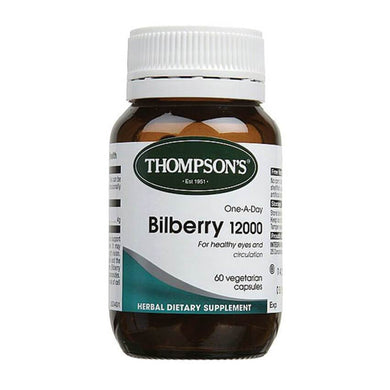 Thompsons One-A-Day Bilberry 12000mg Capsules 60s - Corner Pharmacy