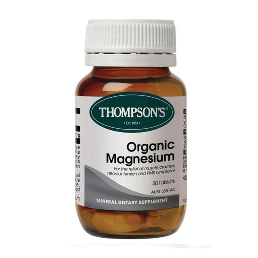 Thompsons Organic Magnesium 50s Twin Pk