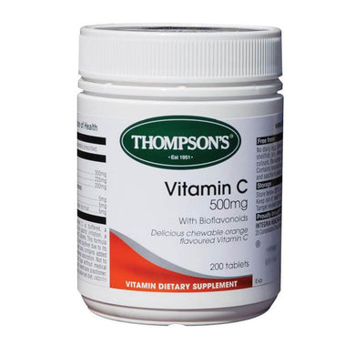 Thompson's Vitamin C Chewable 500mg Tablets 200s - Corner Pharmacy