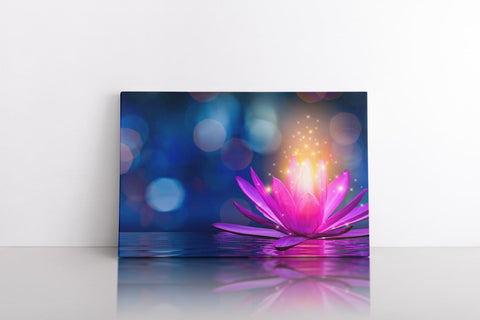 floating lotus canvas decor junky
