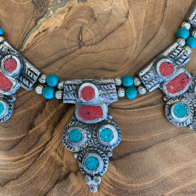 Turquoise Coral necklace
