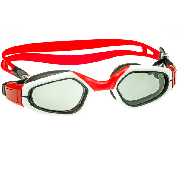 Aqualine Swimming Goggle  Aquahype Red White Black Adults