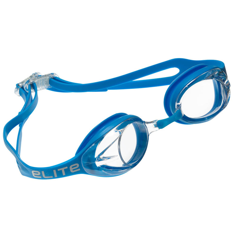 Aqualine Elite Swimming Goggle Blue with Clear Lens Adults