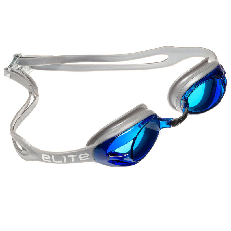Aqualine Elite Swimming Goggle Grey with Blue Lens Adults