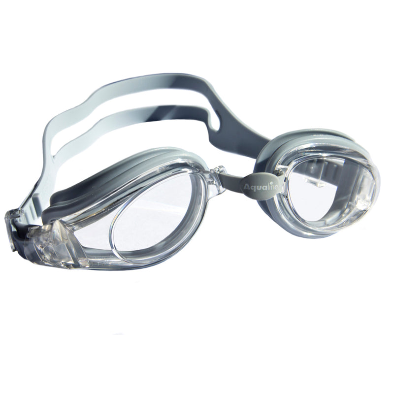 Aqualine Extreme Swimming Goggle Grey with Clear Lens