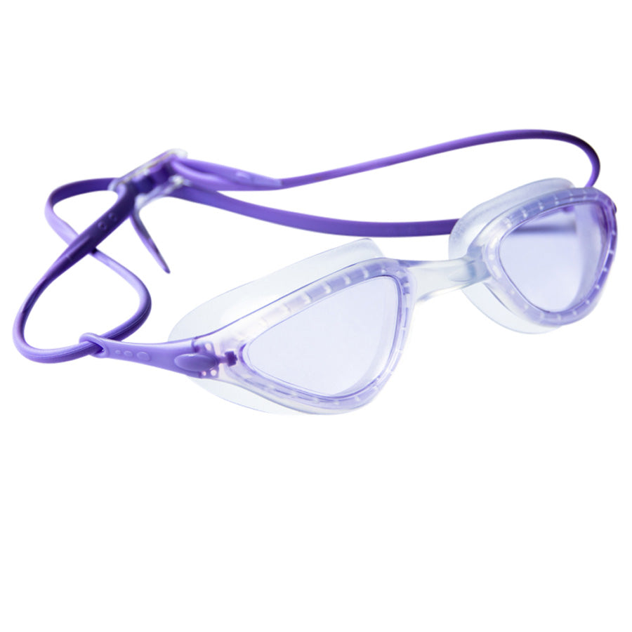 Aqualine Faze Swimming Goggle Purple strap, Purple lens, clear frame.