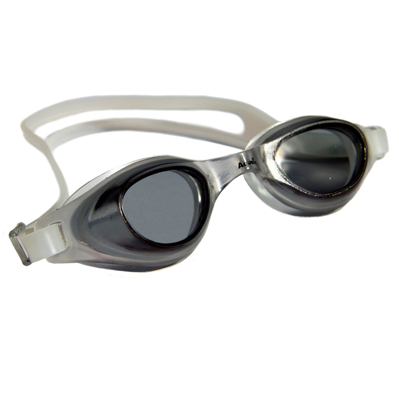 Aqualine Focus Swimming Goggles Black lens with Clear frame and strap