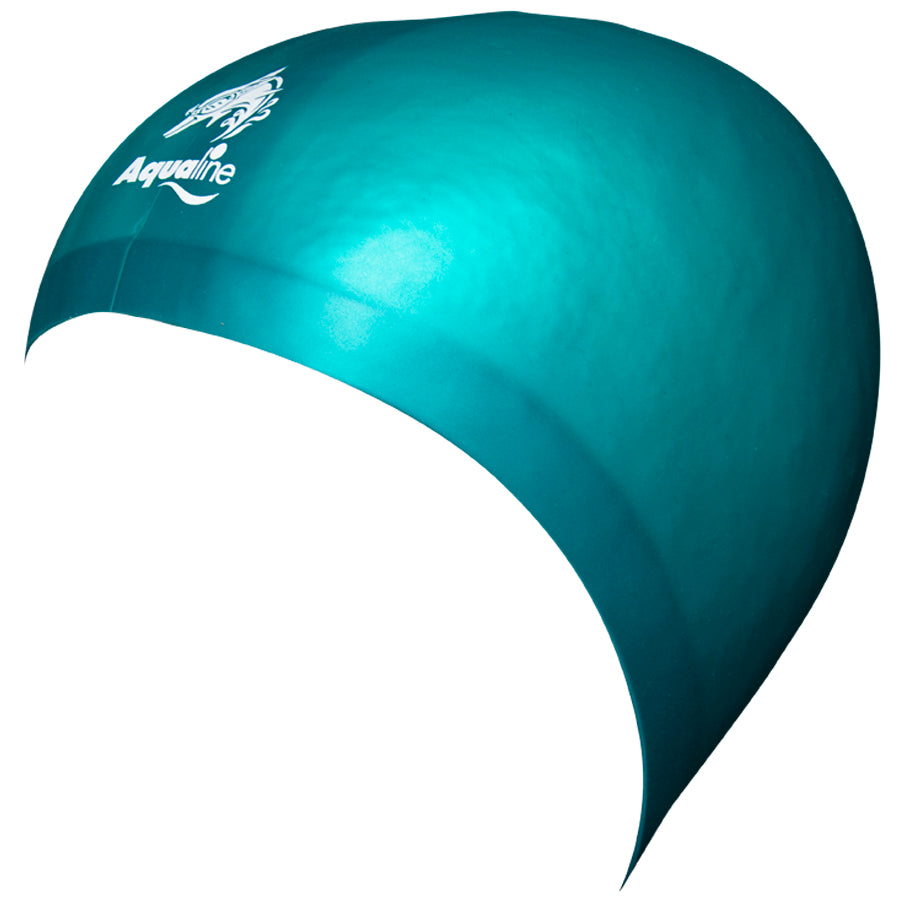 Aqualine Hydra-Seamless Silicone Swimming Caps Forest Green