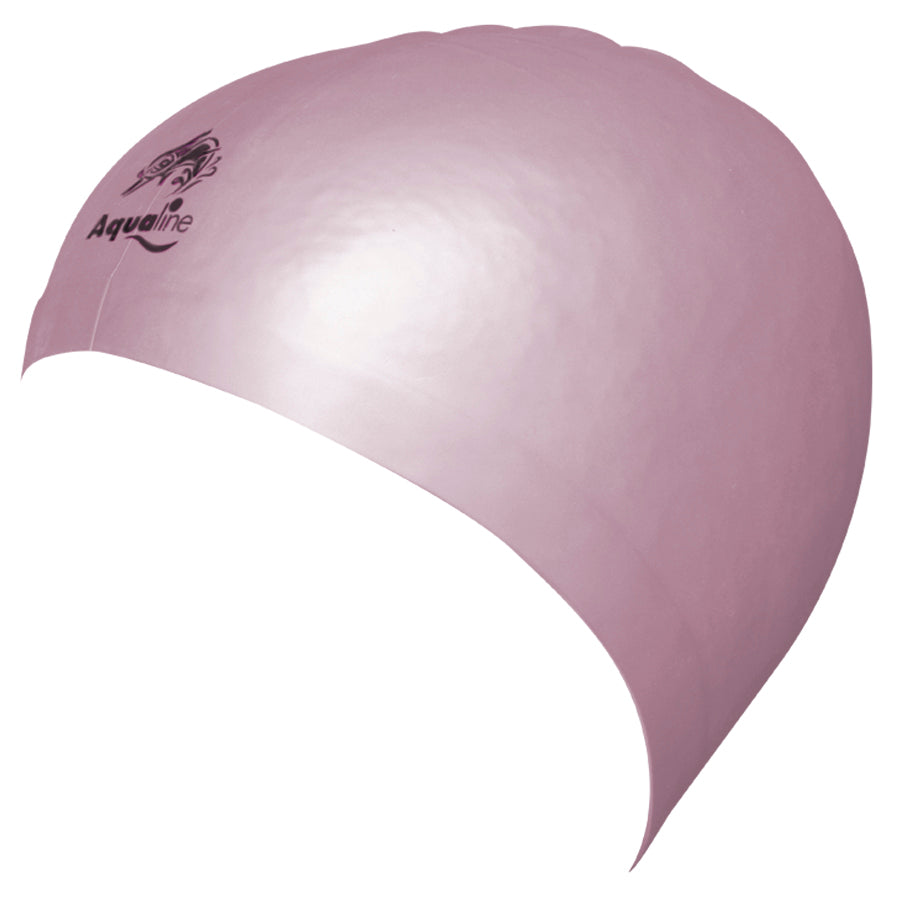 Aqualine Hydra-Seamless Silicone Swimming Caps Light Pink