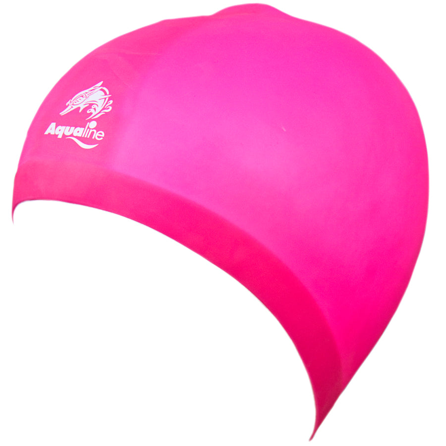 Aqualine Hydra-Seamless Silicone Swimming Caps Pink