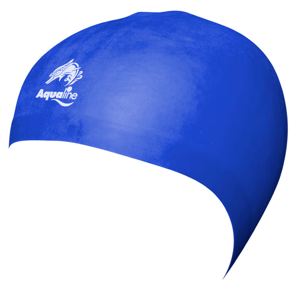 Aqualine Hydra-Seamless Silicone Swimming Caps Royal Blue
