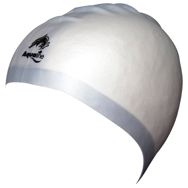 Aqualine Hydra-Seamless Silicone Swimming Caps Silver