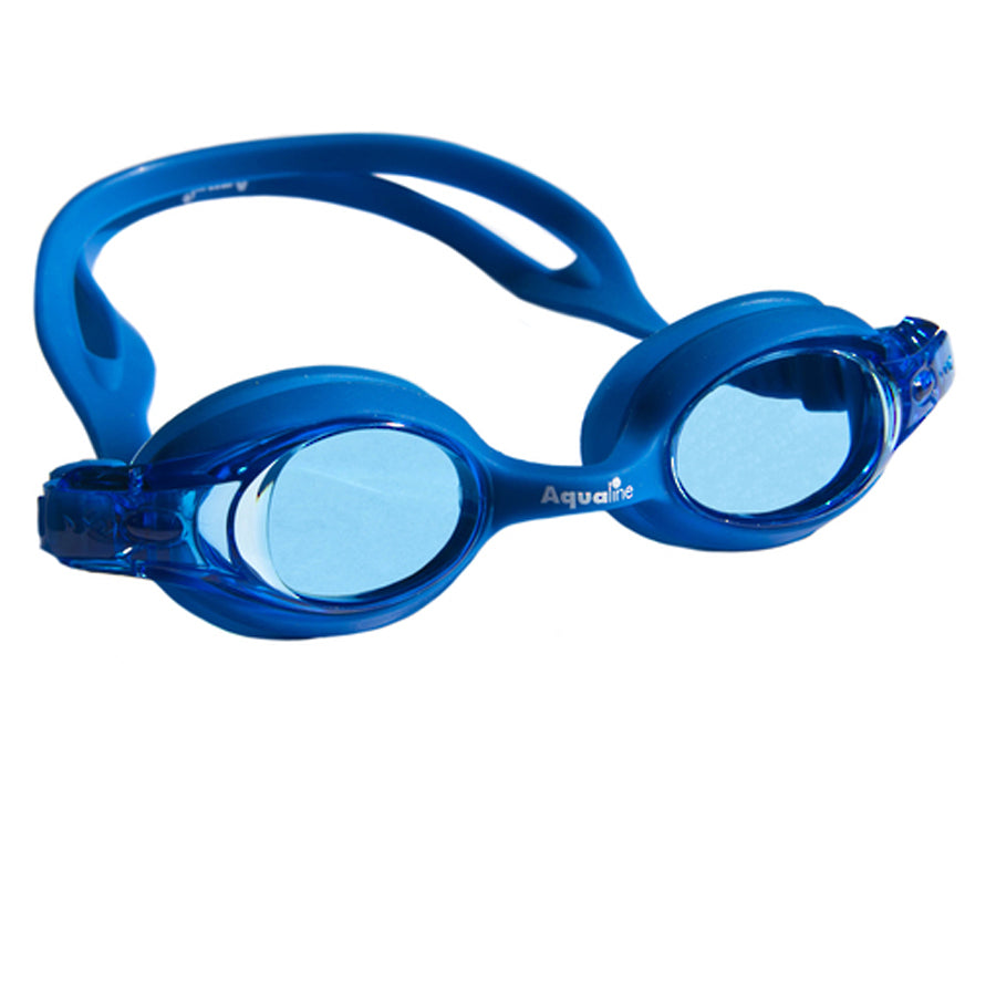 Aqualine Jellies Childrens Swimming Goggles Blue Frame and Stap with Blue Lens