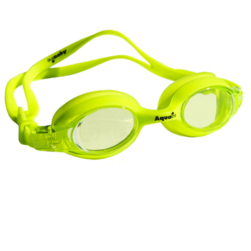 Aqualine Jellies Childrens Swimming Goggles Neon Green Frame and Stap with Green Lens