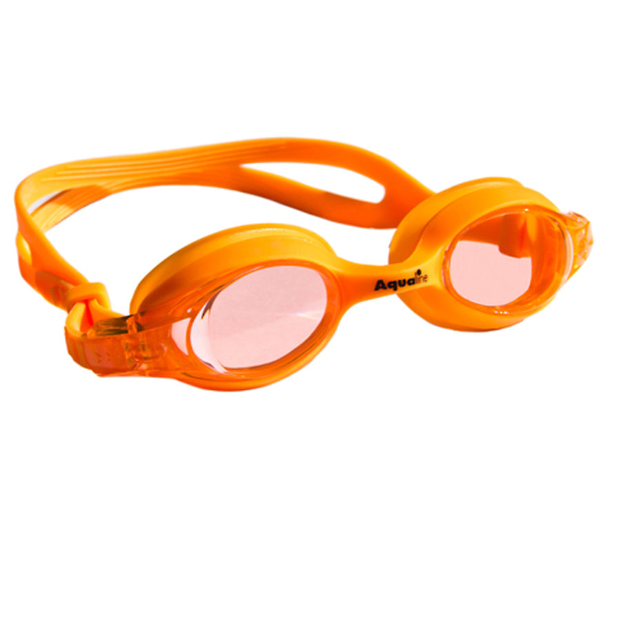 Aqualine Jellies Childrens Swimming Goggles Orange Frame and Stap with Orange Lens