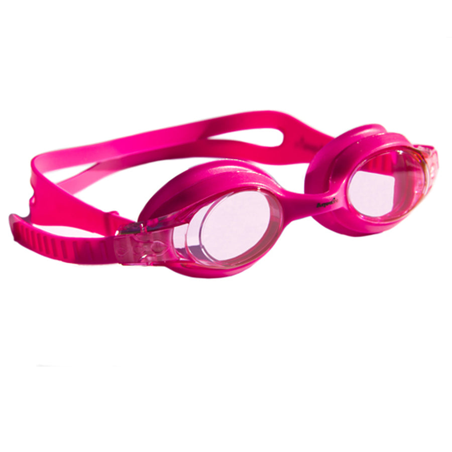 Aqualine Jellies Childrens Swimming Goggles Pink Frame and Stap with Pink Lens