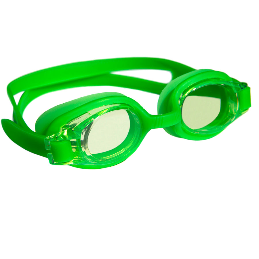 Aqualine Junior Childrens Swimming Goggles Green