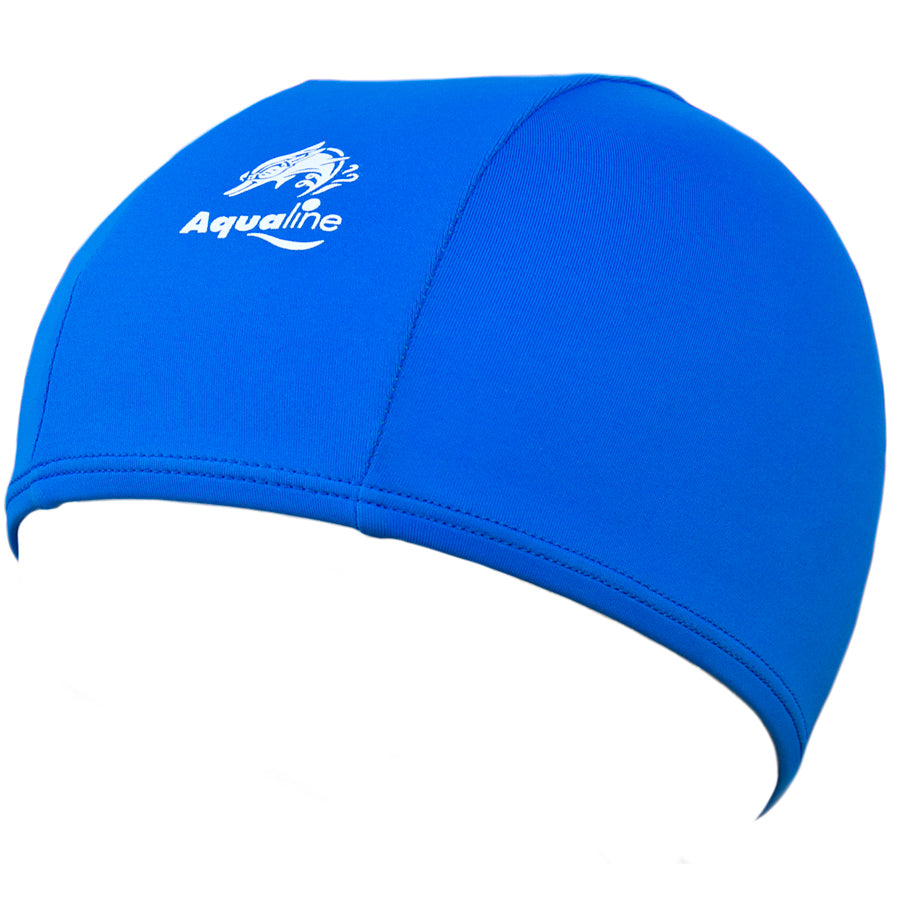 Aqualine Childrens Junior Lycra Swimming Cap Blue