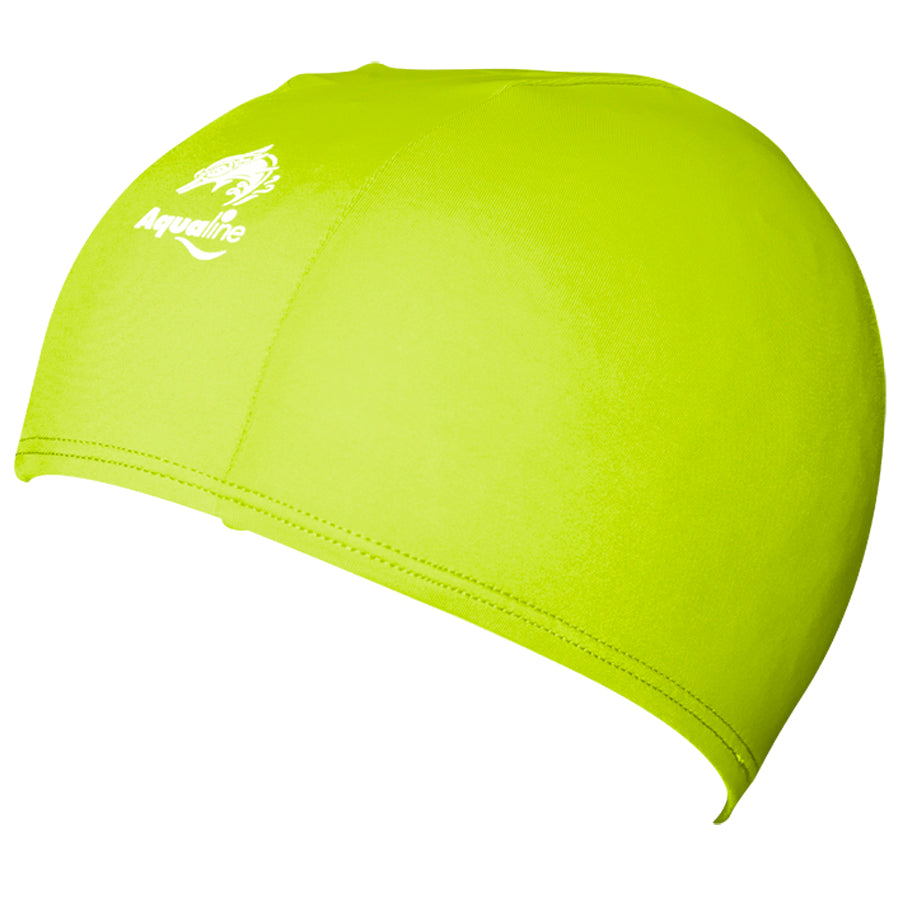 Aqualine Childrens Junior Lycra Swimming Cap Neon Green