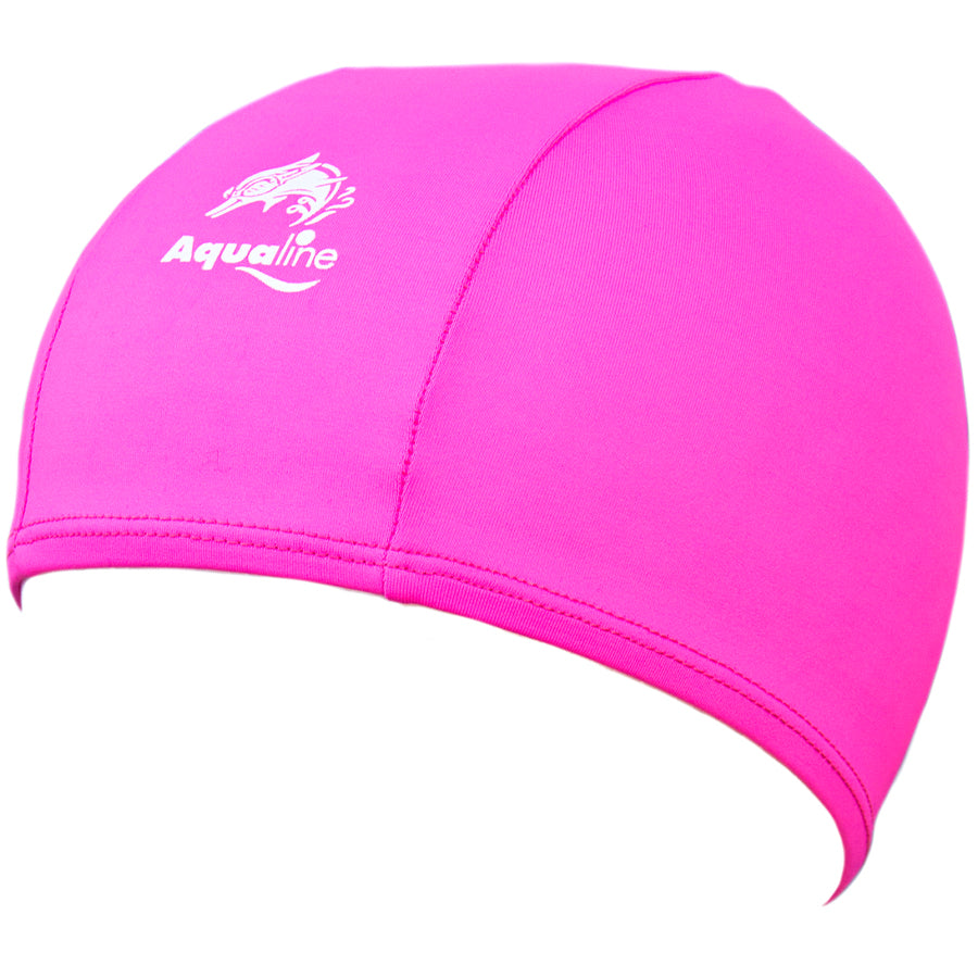 Aqualine Childrens Junior Lycra Swimming Cap Pink