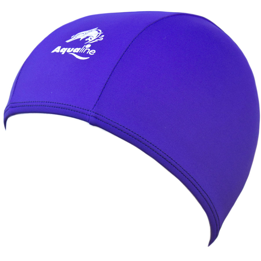 Aqualine Childrens Junior Lycra Swimming Cap Purple