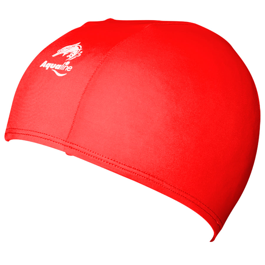 Aqualine Childrens Junior Lycra Swimming Cap Red