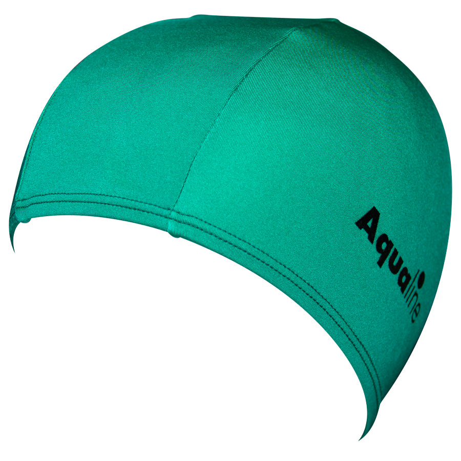 Aqualine Lycra Swimming Cap Green