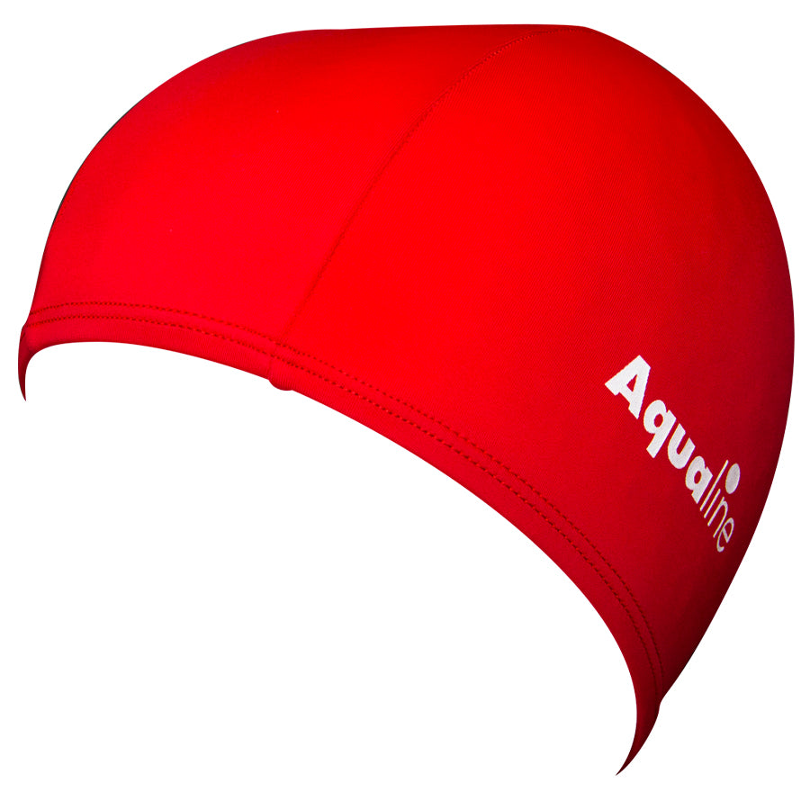 Aqualine Lycra Swimming Cap Red