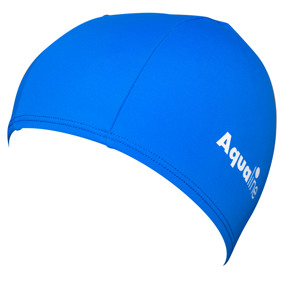 Aqualine Lycra Swimming Cap Blue