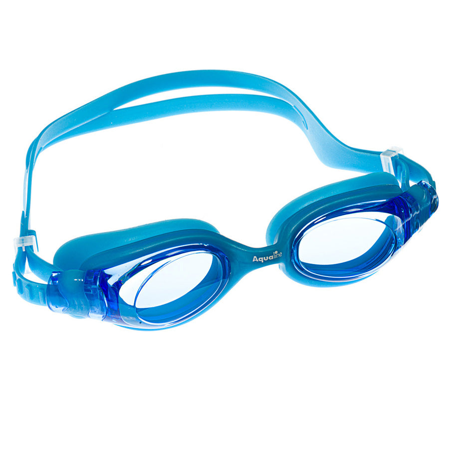 Aqualine Oracle Youth Adult Goggle Blue Silicone with Blue Lens.
