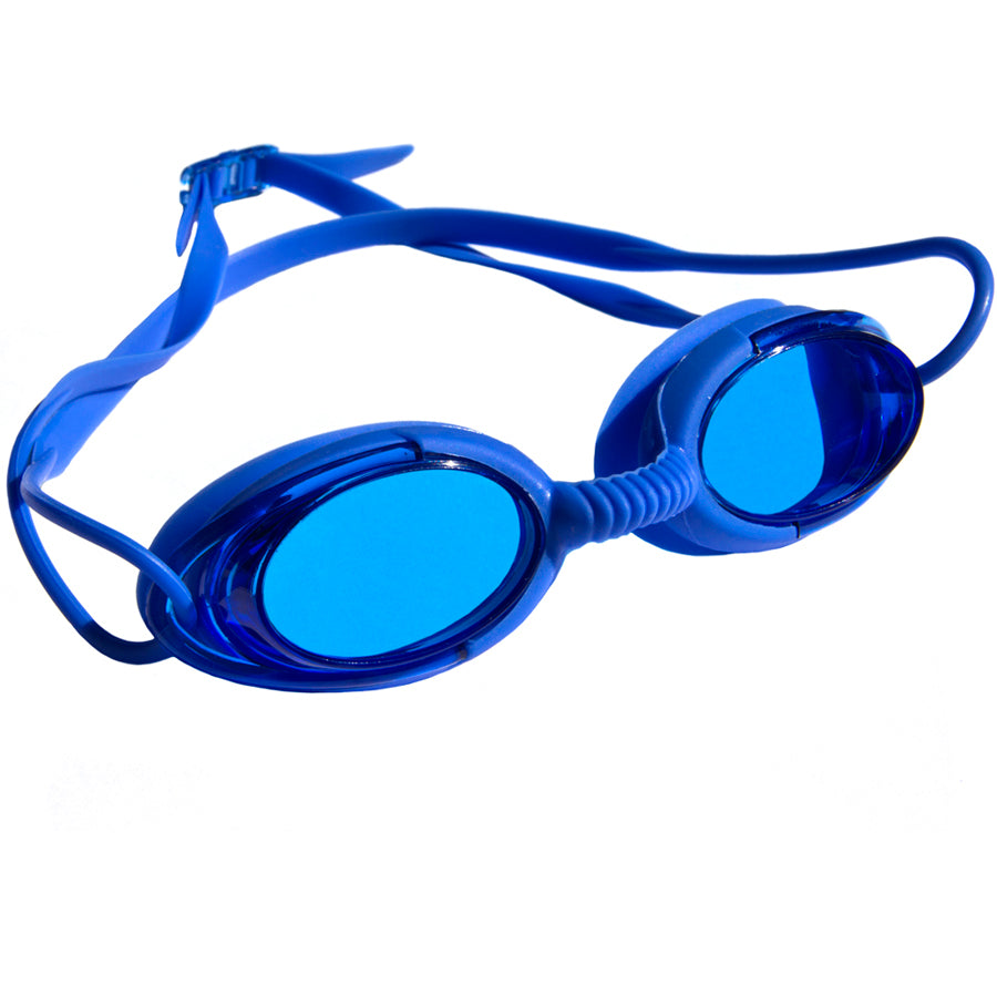 Aqualine Podz Adults Swimming Goggle with Blue Frame, Blue Strap, and Blue lens.