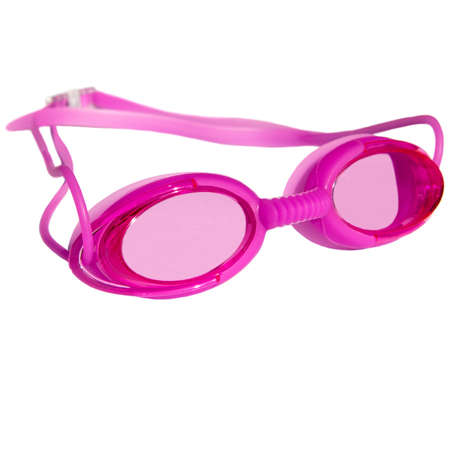 Aqualine Podz Adults Swimming Goggle with Pink Frame, Pink Strap, and Pink lens.