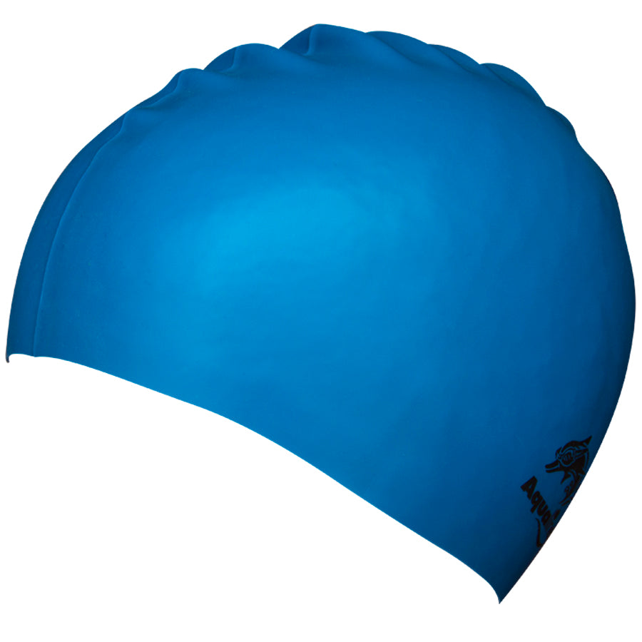 Aqualine Silicone Swimming Cap Blue