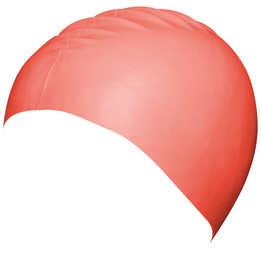Aqualine Silicone Swimming Cap Coral