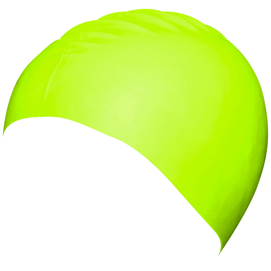 Aqualine Silicone Swimming Cap Neon Green