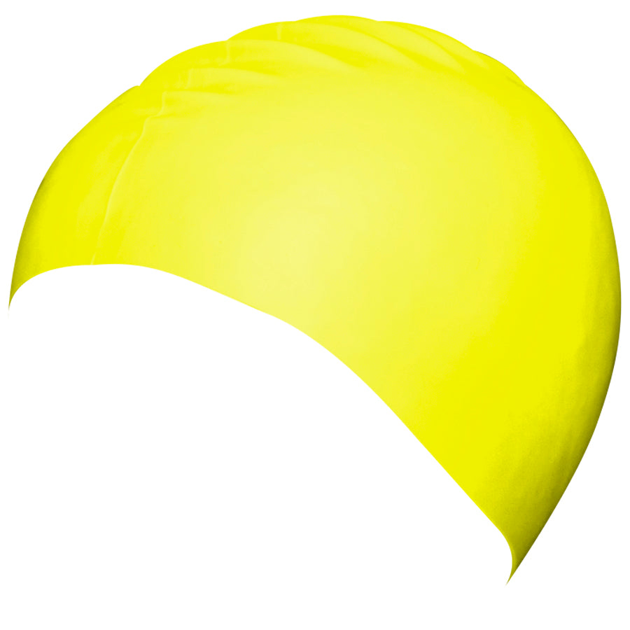 Aqualine Silicone Swimming Cap Neon Yellow