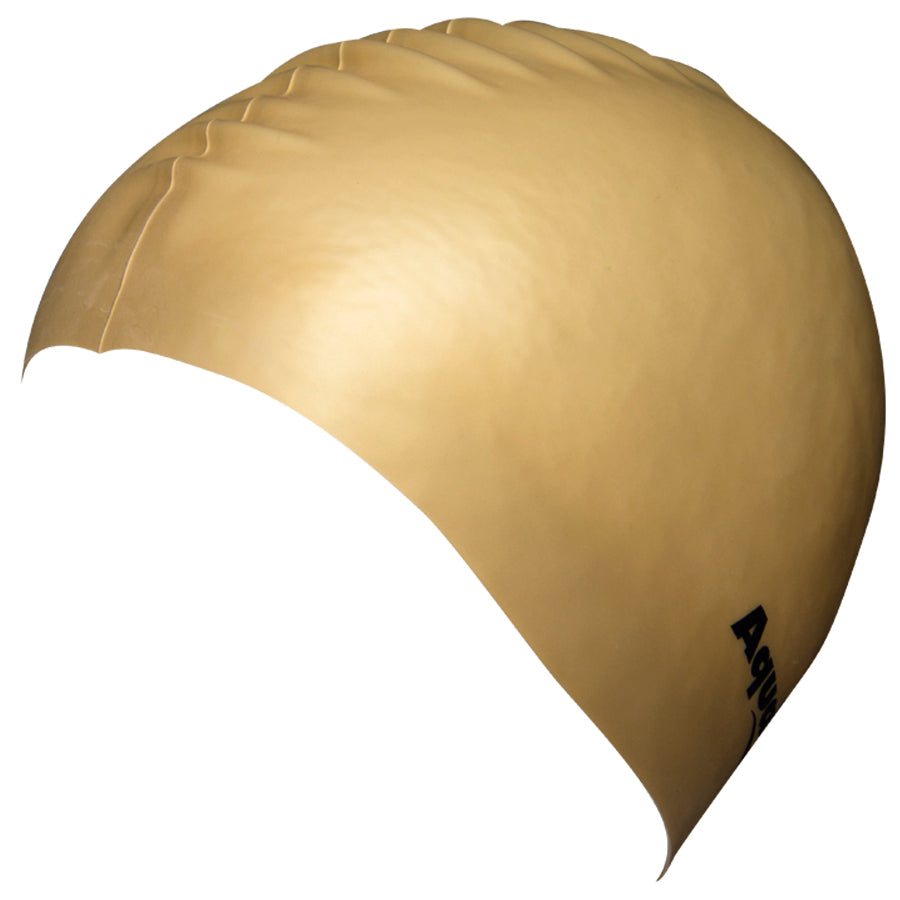 Aqualine Silicone Swimming Cap Gold