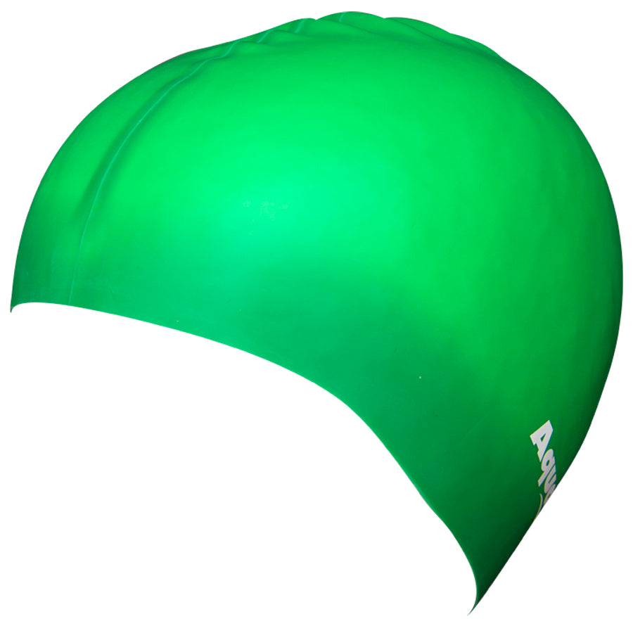 Aqualine Silicone Swimming Cap Green