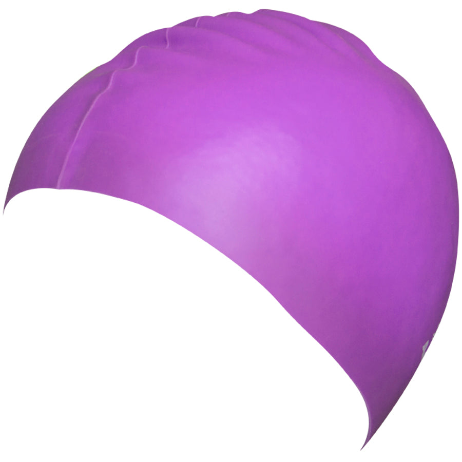 Aqualine Silicone Swimming Cap Light Purple